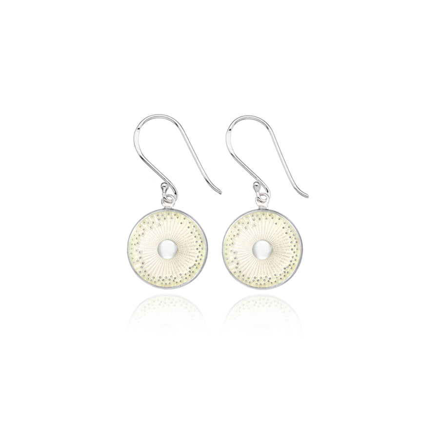 White Enamel Diatom Earrings