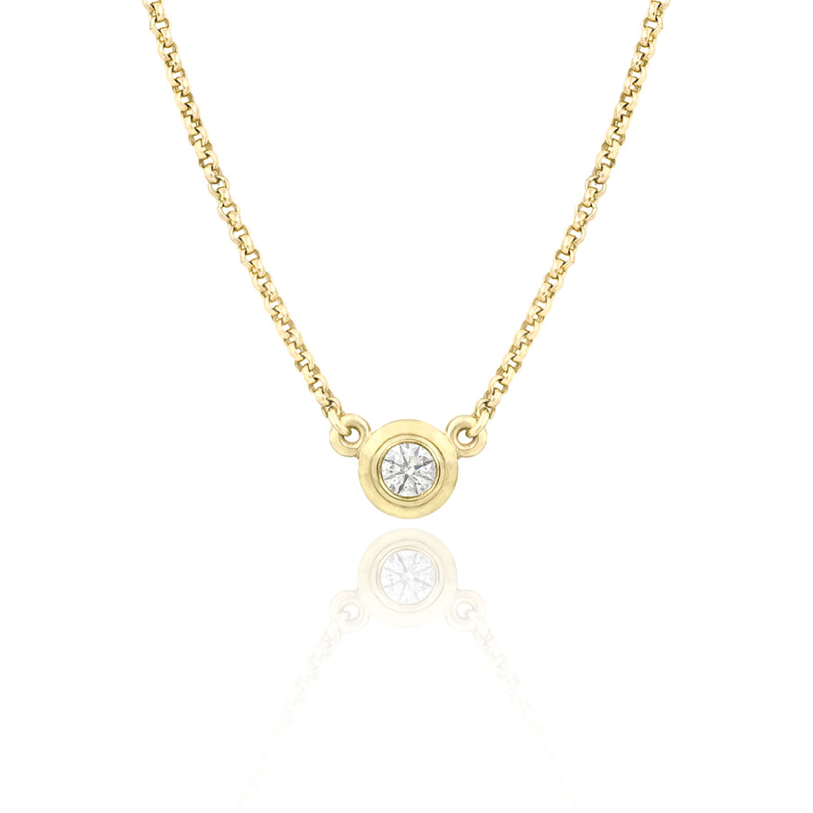 Diamond Eclipse Gold Necklace