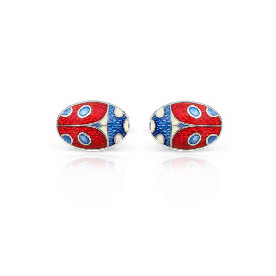 Ladybird Enamelled Red Cufflinks