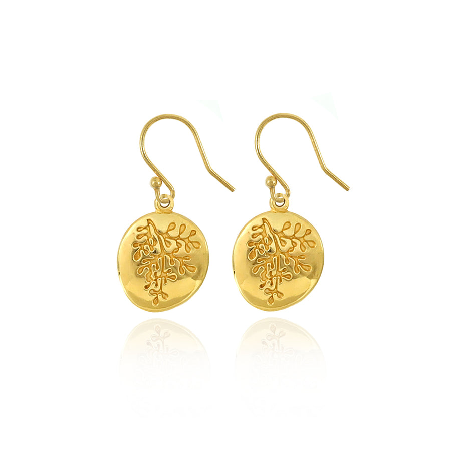 Gold Rue Earrings