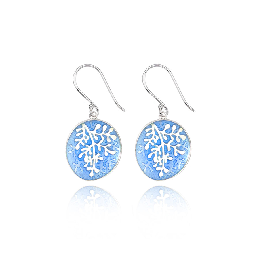 Enamel Rue Pale Blue Earrings