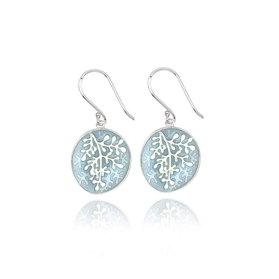 Enamel Rue Pale Grey Earrings