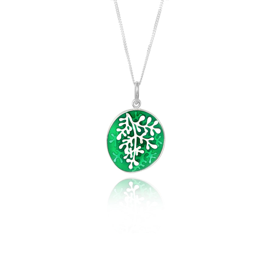Enamel Rue Green Small Pendant