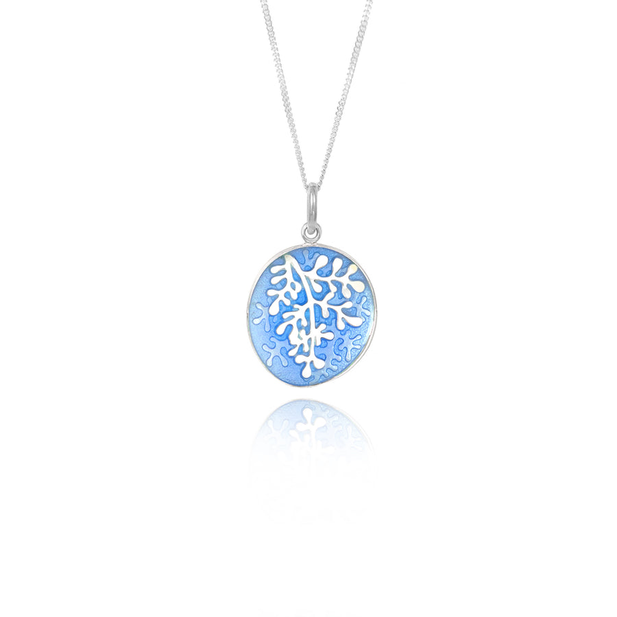 Enamel Rue Pale Blue Small Pendant