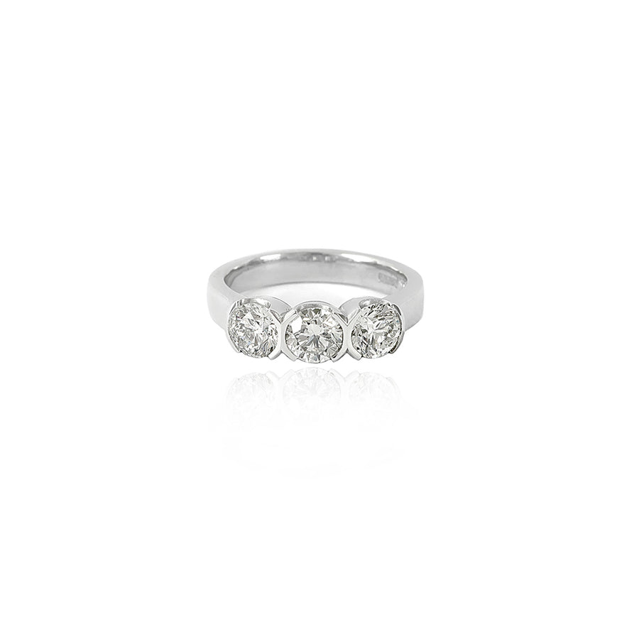 Triple Diamond Platinum Ring