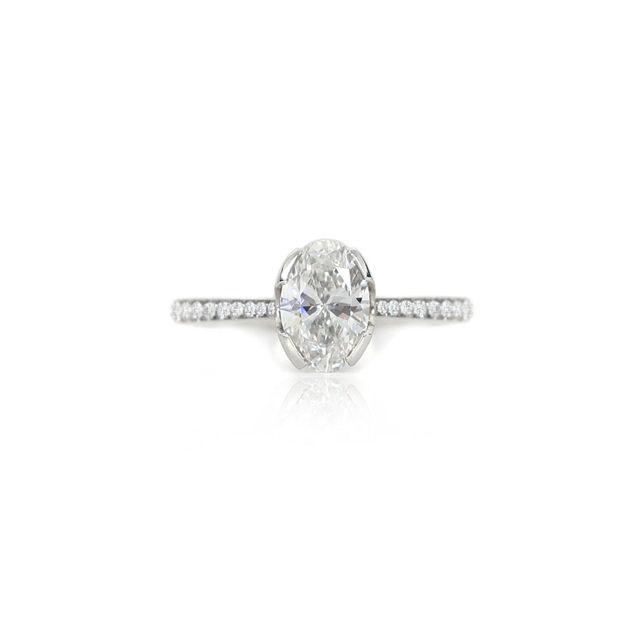 Oval Diamond Hera Platinum Ring