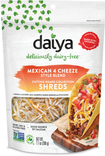 Daiya - Cutting Board Collection - Shreds, Mexican 4-Cheeze Blend
