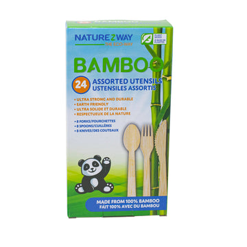 NatureZway - Bamboo Disposable Cutlery