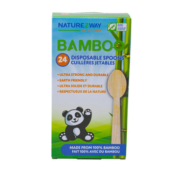 NatureZway - Bamboo Disposable Spoons