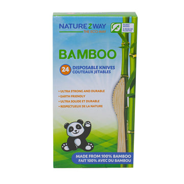 NatureZway - Bamboo Disposable Knives