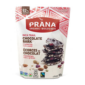 Prana - Chocolate Bark - 62% Dark with Cranberries, Nuts & Seeds