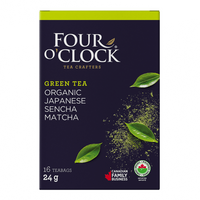Four O'Clock Tea - Green Tea, Japanese Sencha Matcha