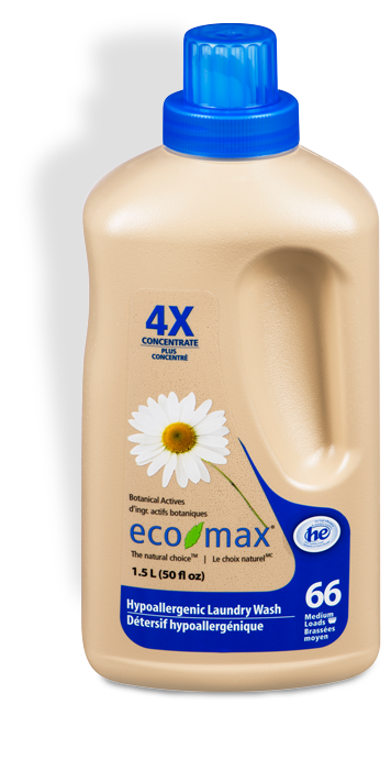 Eco-Max - Laundry Wash, 4X Concentrated, Hypoallergenic, HE