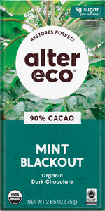 Alter Eco - SuperDark Chocolate, Crisp Mint, 90% Cacao