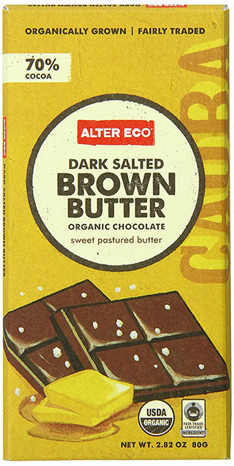 Alter Eco - Chocolate Bar - Dark Salted Brown Butter