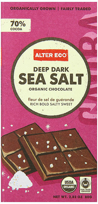 Alter Eco - Chocolate Bar - Deep Dark Sea Salt