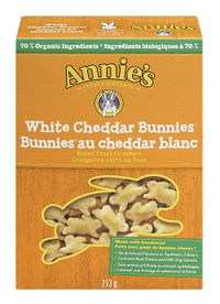 Annie's - Baked Snack Crackers, White Cheddar Bunnies