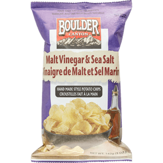 Boulder Canyon - Potato Chips - Malt Vinegar & Sea Salt Kettle Cooked