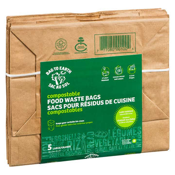 Bag To Earth - Food Waste Bag, Plastic Free, Large