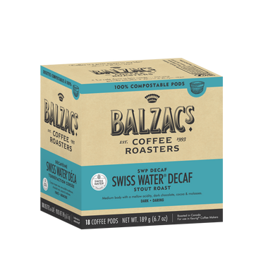 Balzac's Coffee Roasters - Swiss Water Decaf Coffee Pods