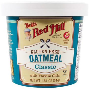 Bob's Red Mill - Single Serving Cup, Oatmeal w/Flax & Chia, Classic