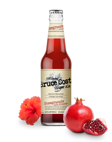 Bruce Cost - Ginger Ale, Unfiltered, Pomegranate w/Hibiscus