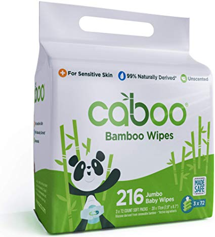 Caboo - Value Pack, Baby Wipes Bamboo w/Aloe, Unscented