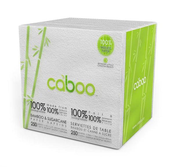 Caboo - Paper Napkins, 100% Biodegradable, Bamboo & Sugar Cane, 2-Ply