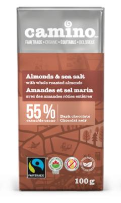 Camino - Dark Chocolate, Coconut Milk w/Coconut Sugar, 55% Cacao, Organic