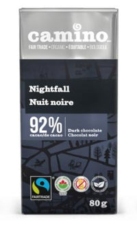 Camino - Dark Chocolate, Nightfall, 92% Cacao, Organic