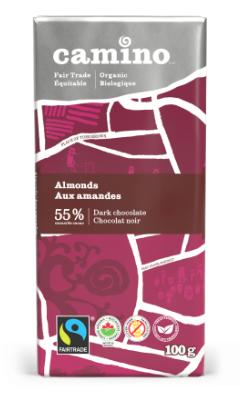 Camino - Dark Chocolate w/Almonds, Organic