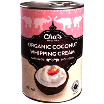 Cha's Organics - NEW Coconut Whipping Cream, Organic
