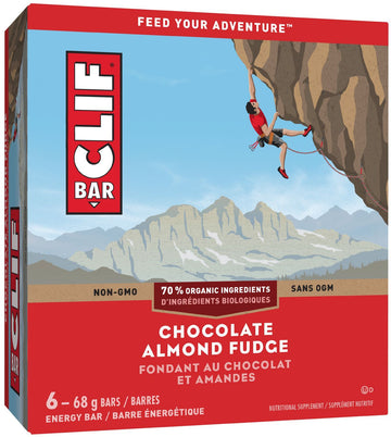 Clif - 6-Pack, Chocolate Almond Fudge, 70% Organic
