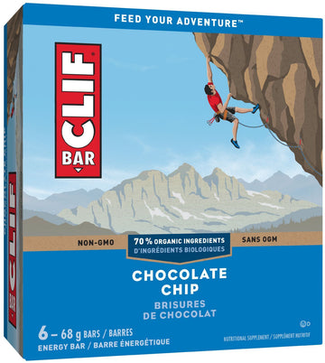 Clif - 6-Pack, Chocolate Chip, 70% Organic