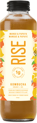 Rise - Kombucha, Low Sugar,  Mango & Papaya, Organic