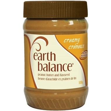 Earth Balance - Peanut Butter & Flax Seed, No Stir, Agave Sweetened, Creamy