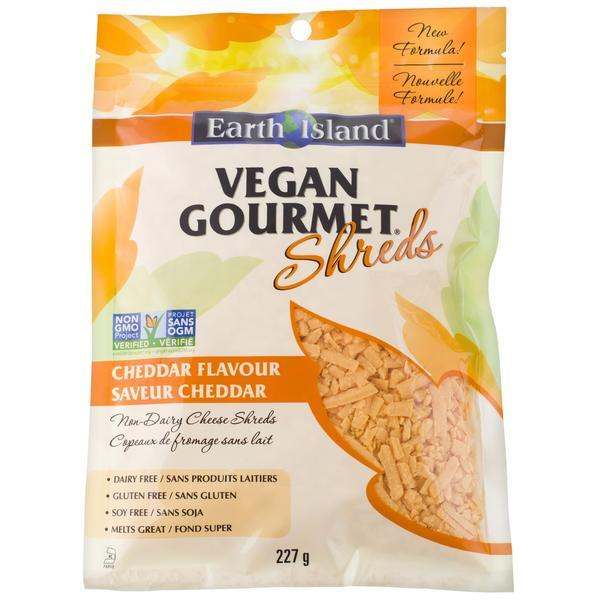 Earth Island - Vegan Gourmet Shreds, Cheddar
