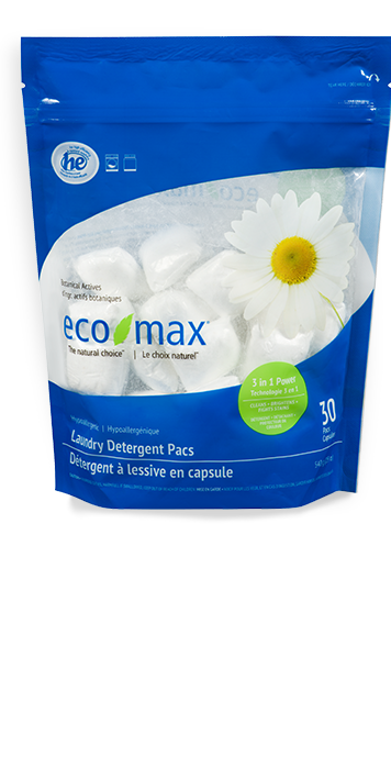 Eco-Max - Laundry Detergent Pacs, 3-in-1 Power, Hypoallergenic, HE