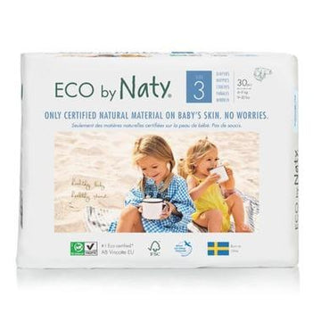 Eco By Naty - Disposable Eco Diapers, Size 3
