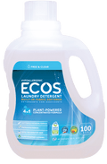 Ecos Earth Friendly - Laundry Liquid w/Built-in Fabric Softener, 2X Ultra, Hypoallergenic, Free & Clear, HE