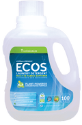 Ecos Earth Friendly - Laundry Liquid w/Built-in Fabric Softener, 2X Ultra, Hypoallergenic, Lemongrass, HE