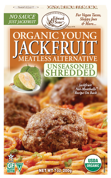 Edward & Sons - Jackfruit, Young, Unseasoned Shredded, Organic