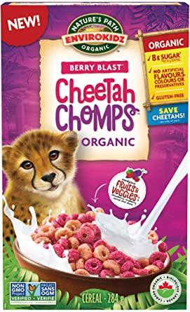 EnviroKidz (Nature's Path) - Cheetah Chomps, Berry Blast, Organic