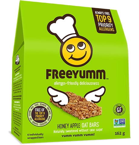 FreeYumm - Honey Apple Oat Bars