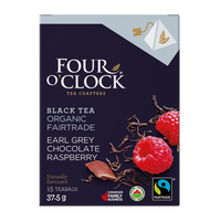 Four O'Clock Tea - Black Tea (Pyramidal), Whole Leaf, Earl Grey Chocolate Berry, Organic
