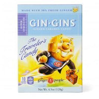 Ginger People - Gin-Gins Super Strength Ginger Candy, Large