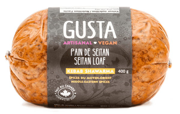 Gusta - Seitan Loaf, Kebab, Middle Eastern Spices