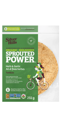 Silver Hills - Sprouted Power Tortillas, 50% Sprouted Grains, Herb & Garlic