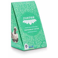JusTea - Herbal Tea, Peppermint Detox, Pyramid Bags