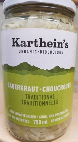 Karthein's Organic - Sauerkraut, Traditional, Organic, Large